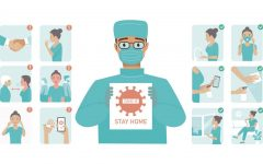 Photo Courtesy of VectorStock The precautions everyone should all be taking that doctors are encouraging during this pandemic to remain safe and healthy even throughout spring break.