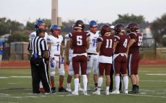 Coin toss between Silver Creek Raptors and Longmont Trojans before the rivarly game on September 23, 2021 at Every Montgomery field. Rivalry schools Longmont and Silver Creek went head to head in football once more.